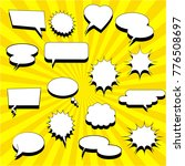 comic white speech bubbles... | Shutterstock .eps vector #776508697