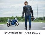 attractive brutal unshaven...   Shutterstock . vector #776510179