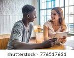 multi ethic schoolmates... | Shutterstock . vector #776517631