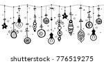 various hanging christmas...   Shutterstock .eps vector #776519275