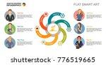 six colleagues team slide...   Shutterstock .eps vector #776519665