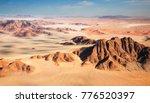 aerial view to namib desert ... | Shutterstock . vector #776520397