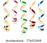 background with party streamers | Shutterstock .eps vector #77652049