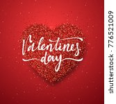 happy valentines day lettering... | Shutterstock . vector #776521009