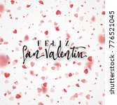 happy valentines day. lettering ... | Shutterstock . vector #776521045