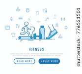 fitness concept with thin line... | Shutterstock .eps vector #776521501