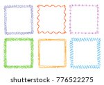 crayon hand drawing square... | Shutterstock .eps vector #776522275