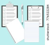 checklist or survey paper and... | Shutterstock . vector #776522284
