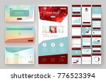website template  one page... | Shutterstock .eps vector #776523394