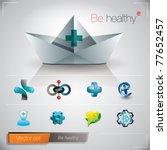 Be Healthy. Vector Image