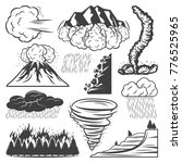 vintage natural disasters... | Shutterstock .eps vector #776525965
