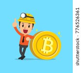cryptocurrency concept... | Shutterstock .eps vector #776526361