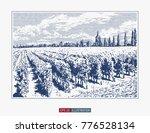 hand drawn landscape. antique... | Shutterstock .eps vector #776528134