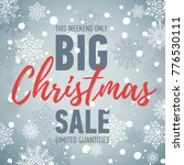 christmas sale poster. big sale.... | Shutterstock .eps vector #776530111