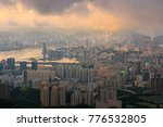 aerial view of hong kong from...   Shutterstock . vector #776532805