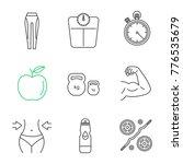 fitness linear icons set.... | Shutterstock .eps vector #776535679