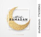 month ramadan greeting card... | Shutterstock . vector #776538061
