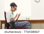 happy young business woman in...   Shutterstock . vector #776538067