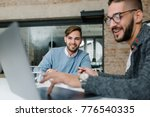 charming the company recruiter... | Shutterstock . vector #776540335