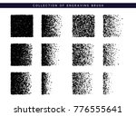 set brush stipple pattern for... | Shutterstock . vector #776555641
