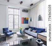 industrial design living room... | Shutterstock . vector #776563105