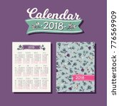 pocket calendar 2018 with... | Shutterstock .eps vector #776569909