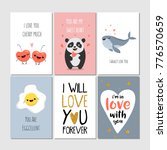 Set Of Greeting Cards With...