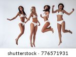 group of young sexy multiracial ... | Shutterstock . vector #776571931
