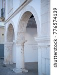 Small photo of the slave market museum in the city of Lagos at the Algarve of Portugal in Europe. Portugal, Algarve, April, 2017