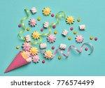 marshmallow  meringue... | Shutterstock . vector #776574499