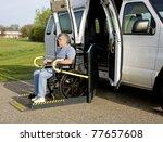 handicap van with a man in a... | Shutterstock . vector #77657608