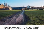 driveway to farm in rural... | Shutterstock . vector #776579884