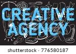 creative agency artistic... | Shutterstock .eps vector #776580187