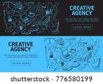 creative agency website  banner ... | Shutterstock .eps vector #776580199