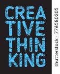 creative thinking poster design ... | Shutterstock .eps vector #776580205