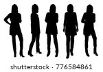 vector silhouettes of woman... | Shutterstock .eps vector #776584861