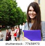 teen girl student happy... | Shutterstock . vector #77658973