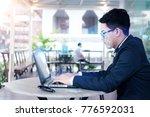 biometric verification...   Shutterstock . vector #776592031