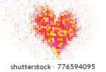 pixelated colorful heart shape... | Shutterstock . vector #776594095