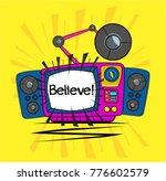believe  beautiful greeting... | Shutterstock .eps vector #776602579