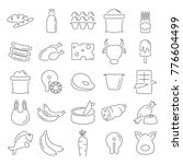 food market products line icons ... | Shutterstock .eps vector #776604499