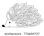 doodle coloring anti stress... | Shutterstock .eps vector #776604727