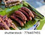 fresh prepared smoky lao pork... | Shutterstock . vector #776607451