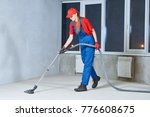 cleaning service. dust removal... | Shutterstock . vector #776608675