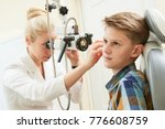 ear  nose  throat examining.... | Shutterstock . vector #776608759
