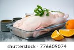 raw duck with spices  honey ... | Shutterstock . vector #776609074