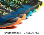 three new pairs of colourful... | Shutterstock . vector #776609761