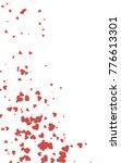 light red vertical hearts... | Shutterstock . vector #776613301