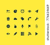 interface icons set with cursor ...