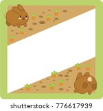 Two Brown Bunnies Jumping In...